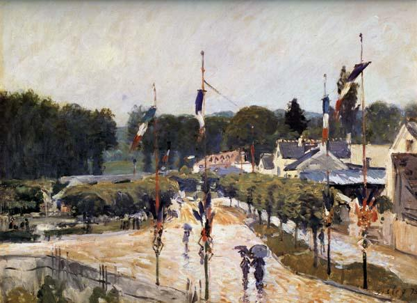 Alfred Sisley Fete Day at Marly-le-Roi