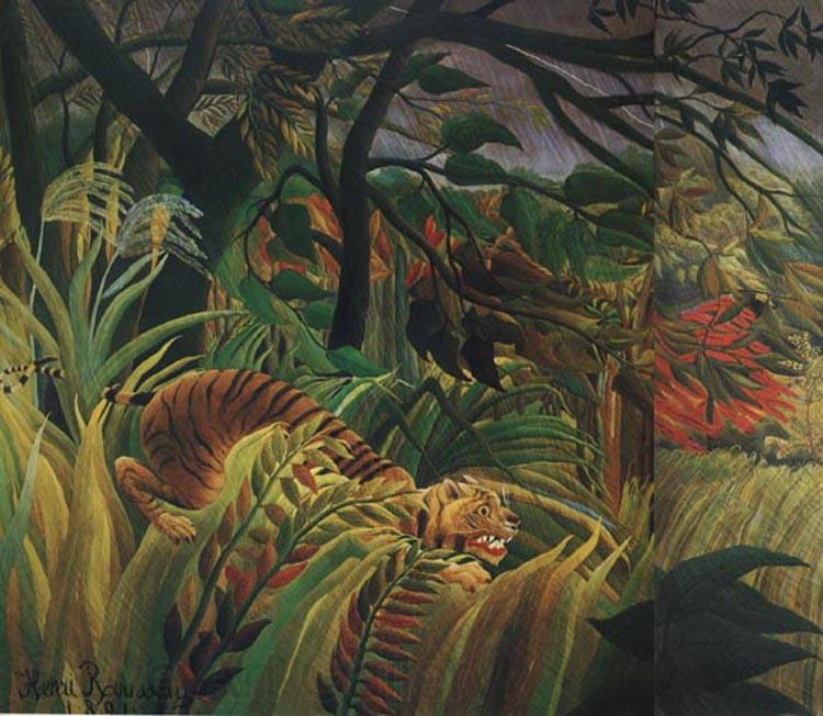 Henri Rousseau Surprised