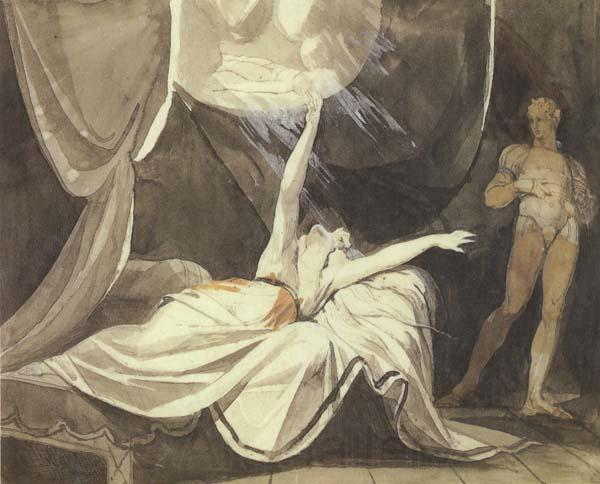 Henry Fuseli Kriemhilde Sees the Dead Sikegfried in a Dream (mk45)