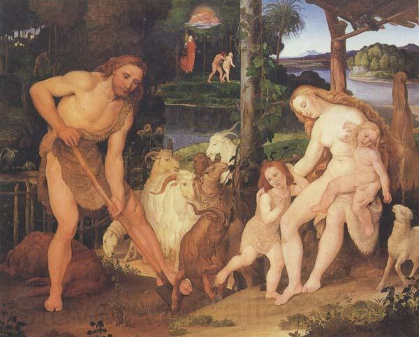 Johann anton ramboux Adam and Eve after Expulsion from Eden (mk45)