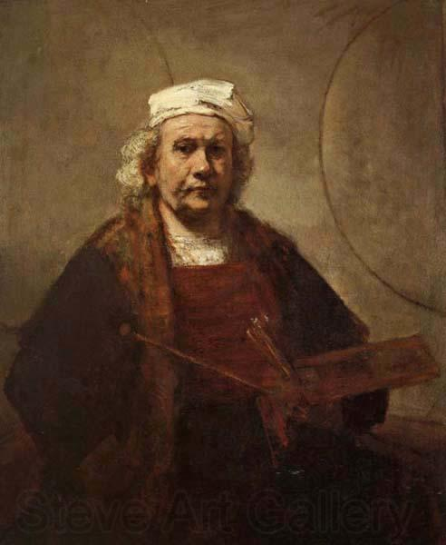 Rembrandt van rijn Self-Portrait with Tow Circles