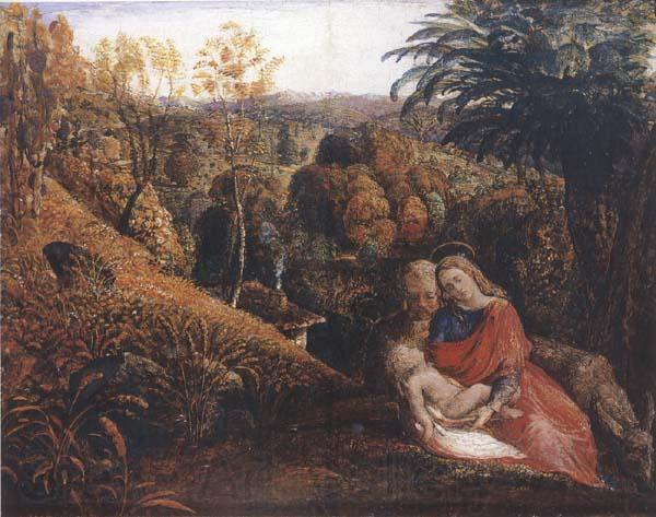 Samuel Palmer Rest on the Flight into Egypt or Holy Family