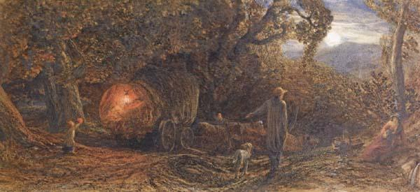 Samuel Palmer A Wagoner Returning Home