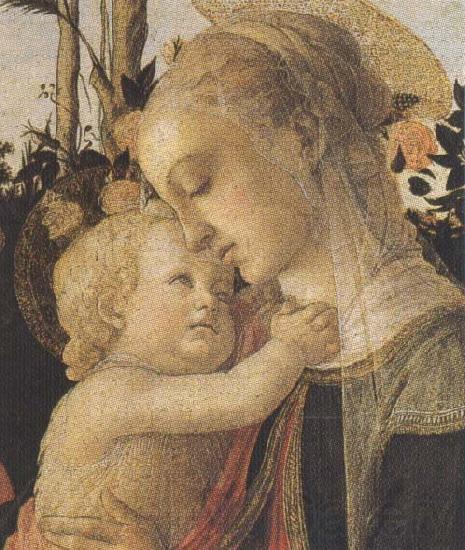 Sandro Botticelli Madonna of the Rose Garden or Madonna and Child with St John the Baptist