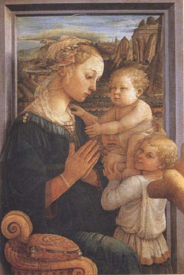 Sandro Botticelli Filippo Lippi,Madonna with Child and Angels or Uffizi Madonna