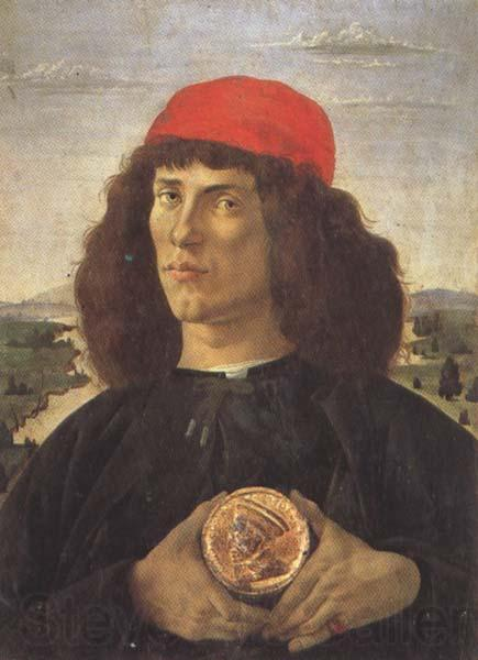 Sandro Botticelli Young Man With a Medallion of Cosimo (mk45)
