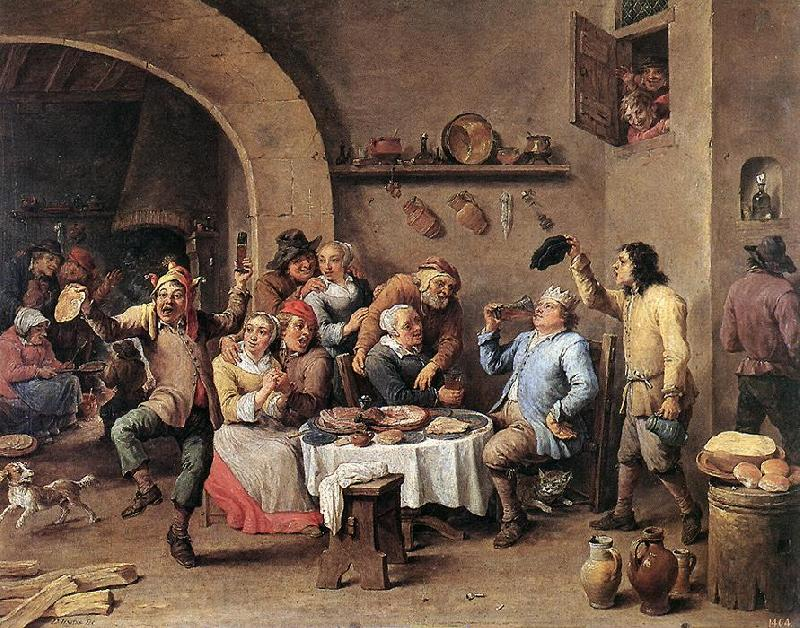 TENIERS, David the Younger Twelfth-night (The King Drinks) ar