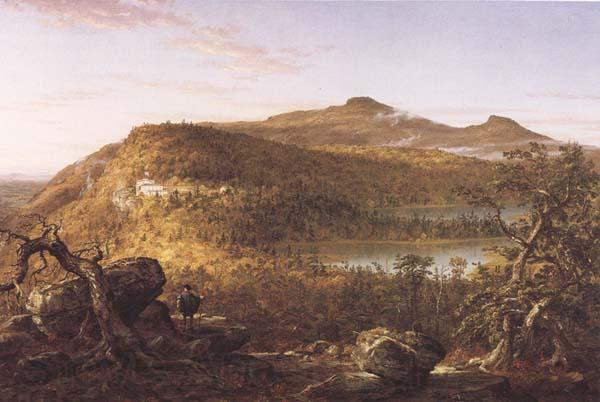 Thomas Cole A View of the Two Lakes and Mountain House,Catskill Mountains Morning