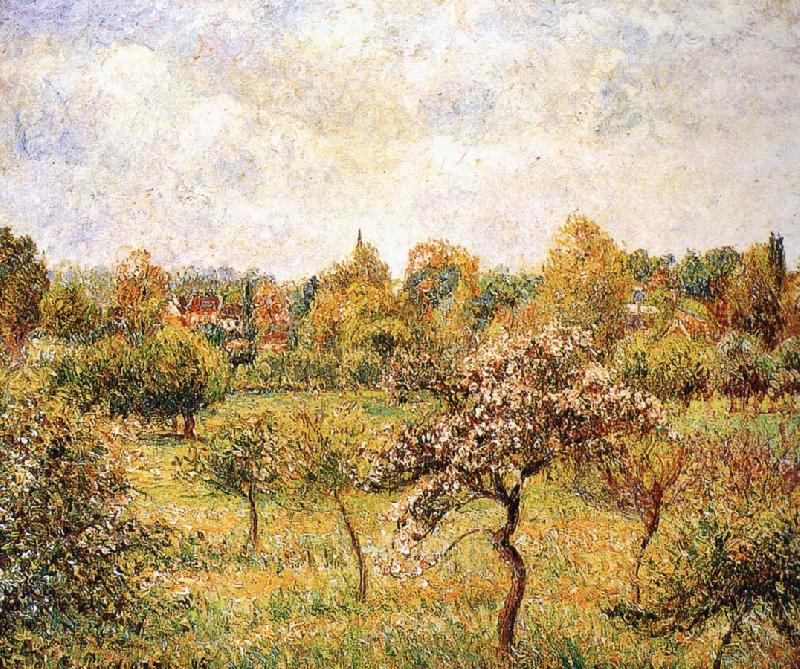 Camille Pissarro The apple trees on the lawn