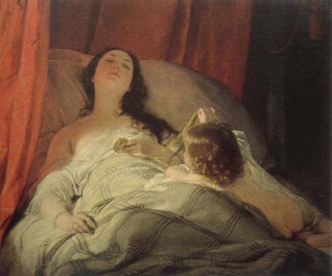 Friedrich von Amerling the drowsy one