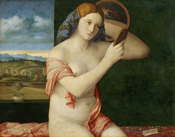 Giovanni Bellini Naked Young Woman in Front of the Mirror