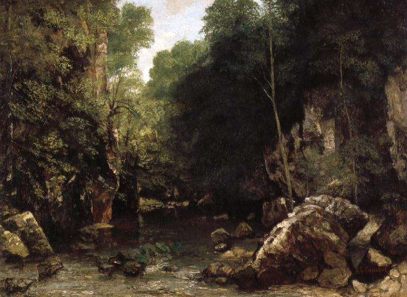 Gustave Courbet The Shaded Stream