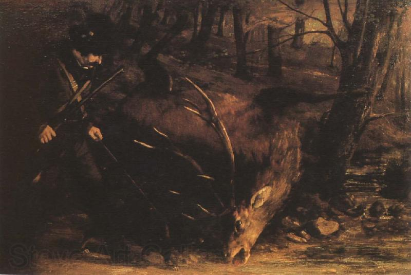 Gustave Courbet Hunter