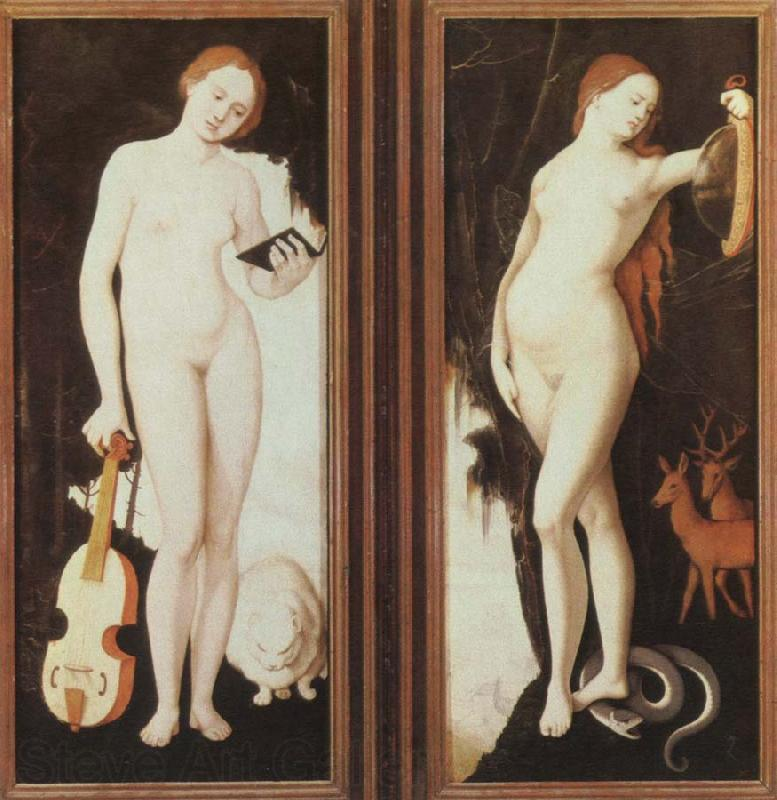 Hans Baldung Grien allegories of music and prudence