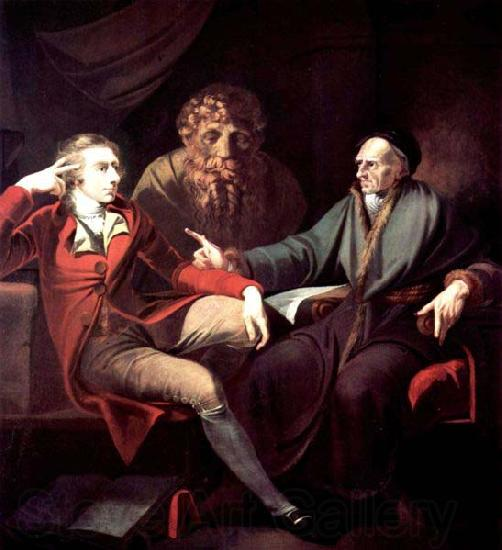 Henry Fuseli The artist in conversation with Johann Jakob Bodmer