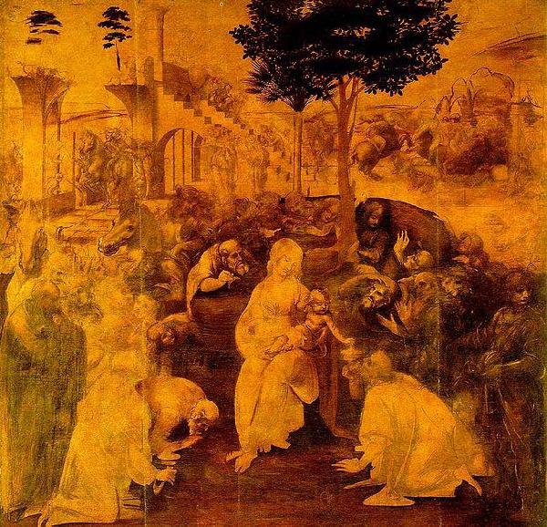 LEONARDO da Vinci The Adoration of the Magi