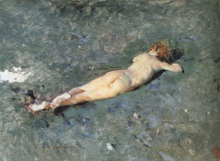 Mariano Fortuny y Marsal nude on the beach at portici