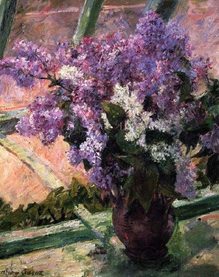 Mary Cassatt Lilacs in a Window