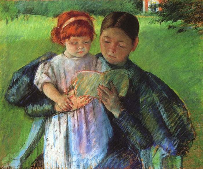 Mary Cassatt Nurse Reading to a Little Girl