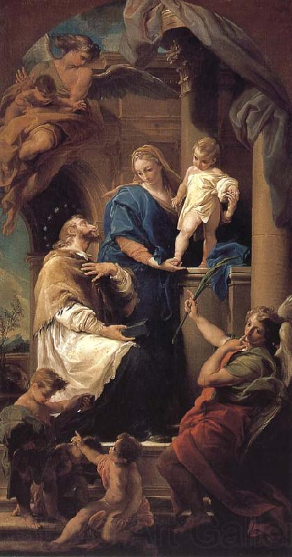 Pompeo Batoni Notre Dame, and the Son in St. John s Nepomuk