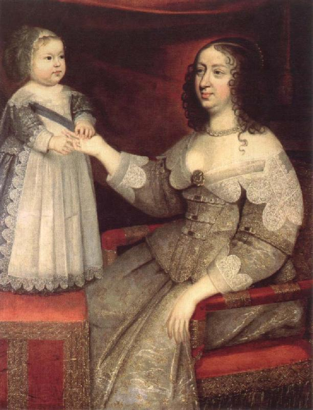 Rembrandt van rijn anne of austria with her louis xiv