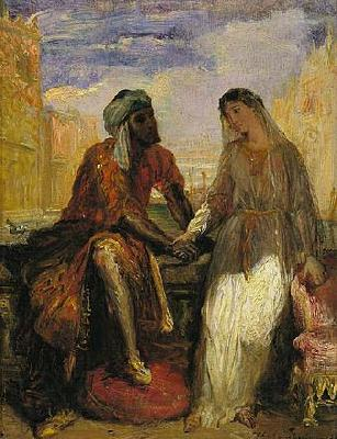 Theodore Chasseriau Othello and Desdemona in Venice