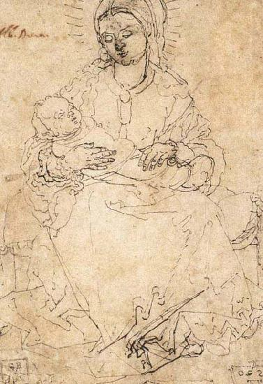 Albrecht Durer Madonna and Child on a Stone Bench