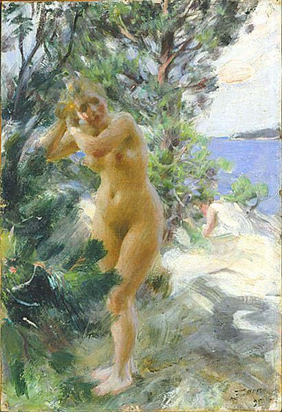 Anders Zorn After the Bath,