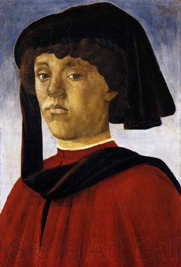 BOTTICELLI, Sandro Portrait of a Young Man