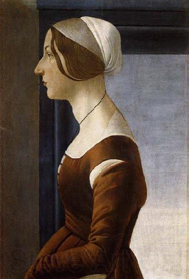 BOTTICELLI, Sandro Portrait of a Young Woman