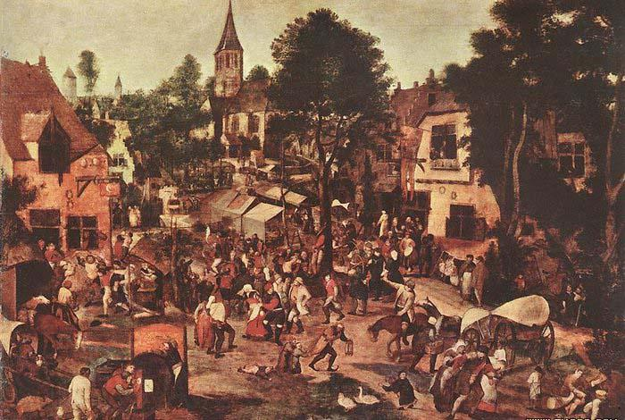 BRUEGHEL, Pieter the Younger Village Feast