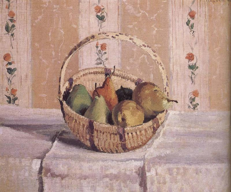 Camille Pissarro basket of apples and pears