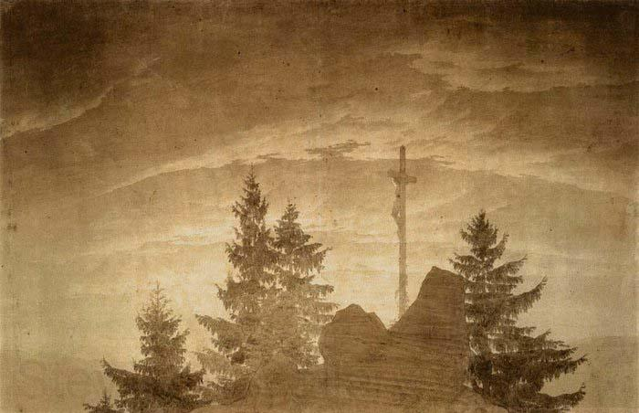 Caspar David Friedrich Cross in the Mountains