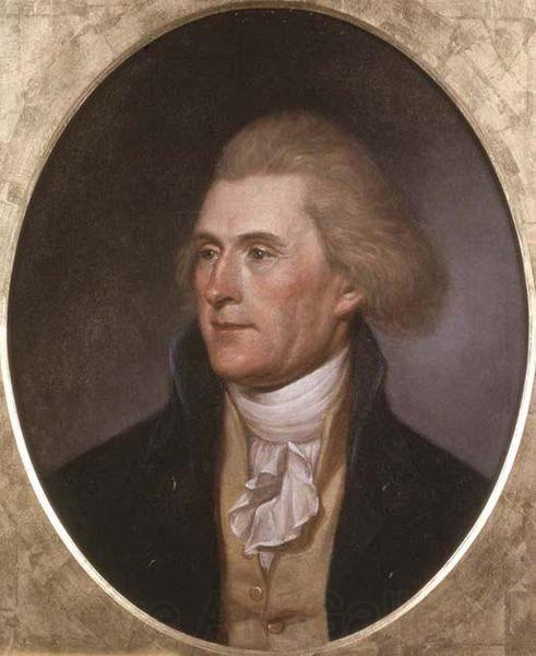Charles Willson Peale Portrait of Thomas Jefferson