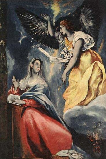 El Greco The Annunciation
