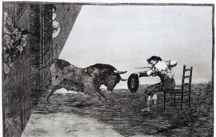 Francisco de goya y Lucientes The Bravery of Martincho in the Ring of Saragassa