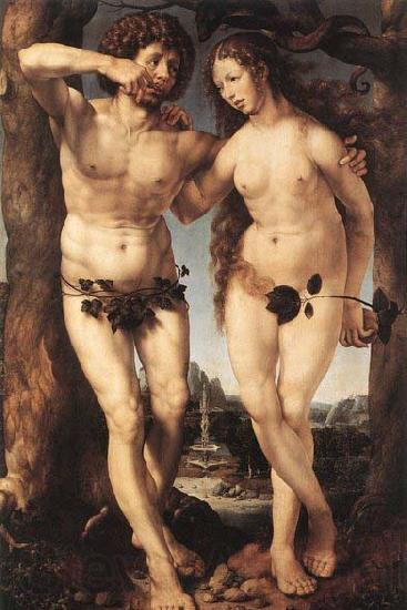 GOSSAERT, Jan (Mabuse) Adam and Eve