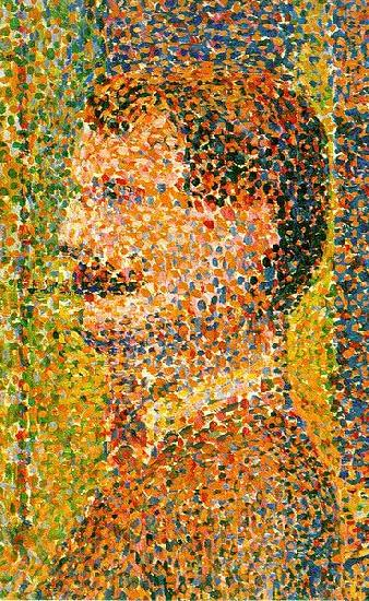Georges Seurat Detail from La Parade  showing pointillism