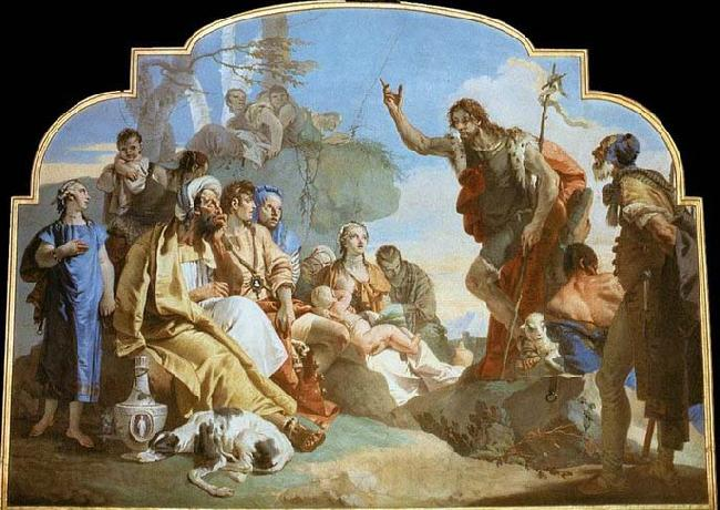 Giovanni Battista Tiepolo John the Baptist Preaching