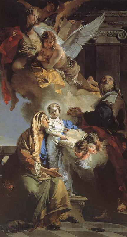 Giovanni Battista Tiepolo Our Lady of the education