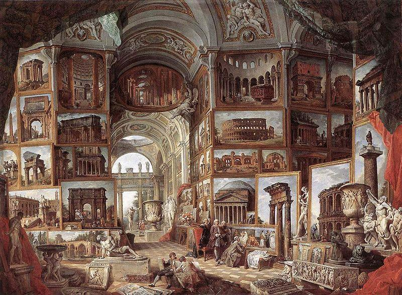 Giovanni Paolo Pannini Picture gallery with views of ancient Rome
