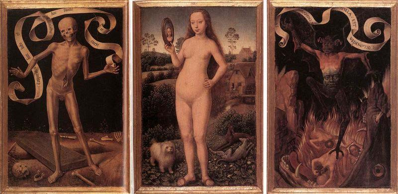 Hans Memling Triptych of Earthly Vanity and Divine Salvation