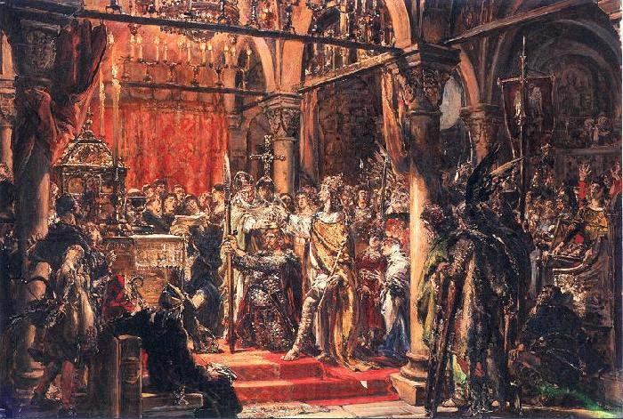 Jan Matejko Coronation of the First King of Poland
