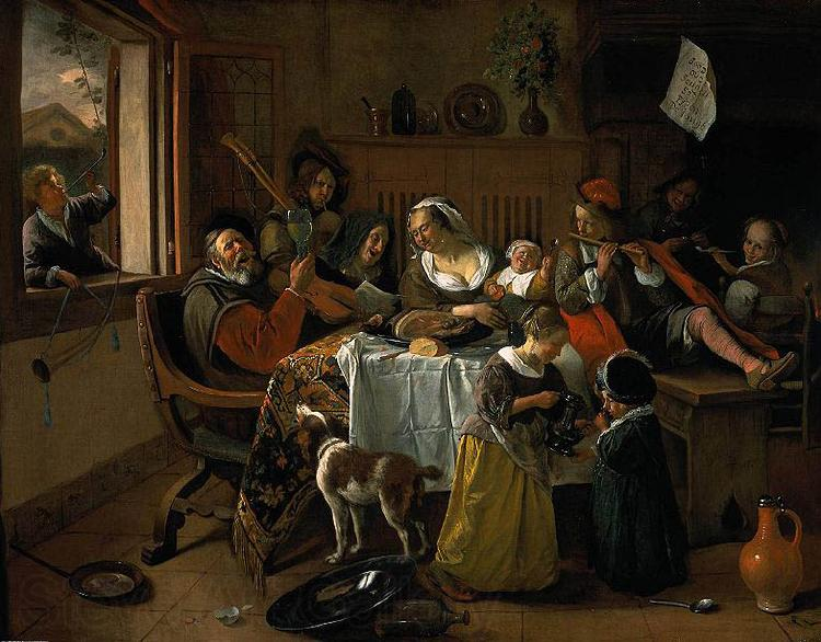 Jan Steen The merry family