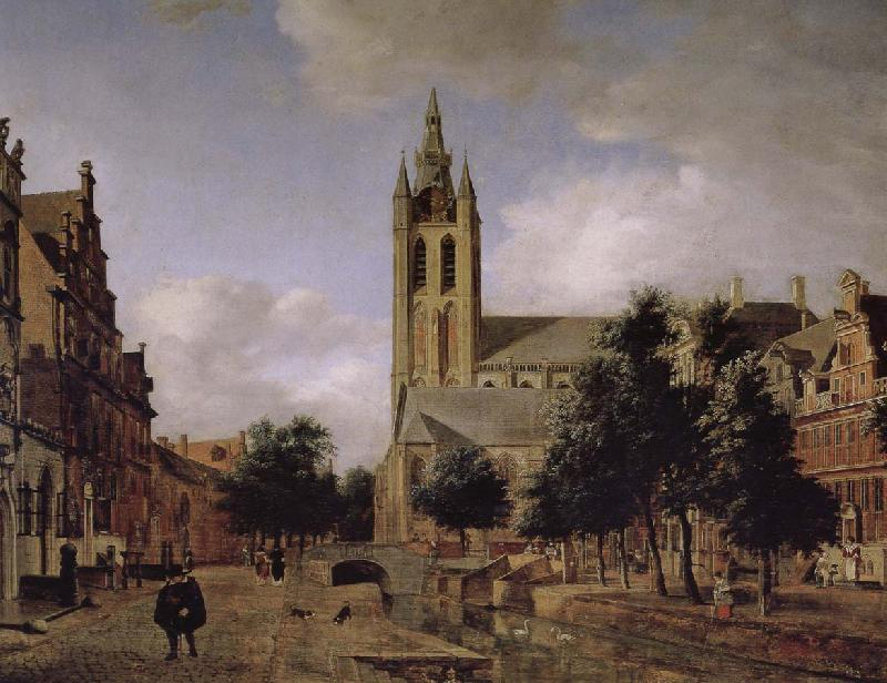 Jan van der Heyden Old church landscape