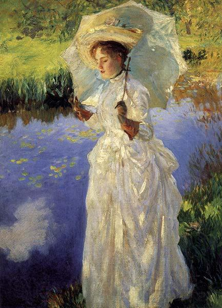 John Singer Sargent Morning Walk by John Singer Sargent