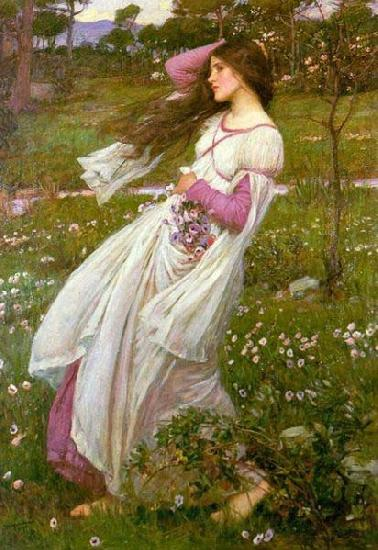 John William Waterhouse Windswept