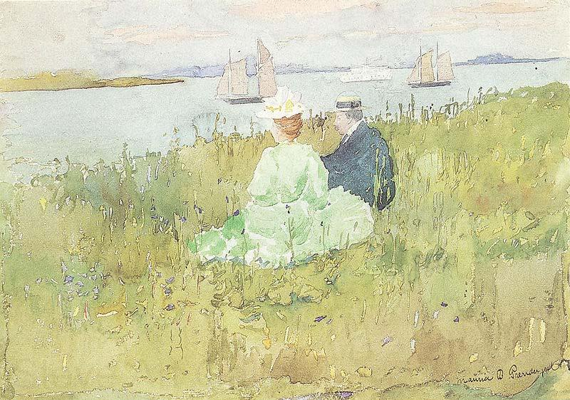 Maurice Prendergast Viewing the Ships