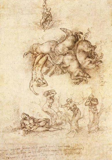 Michelangelo Buonarroti The Fall of Phaeton