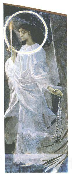 Mikhail Vrubel Angel with Censer and Candle